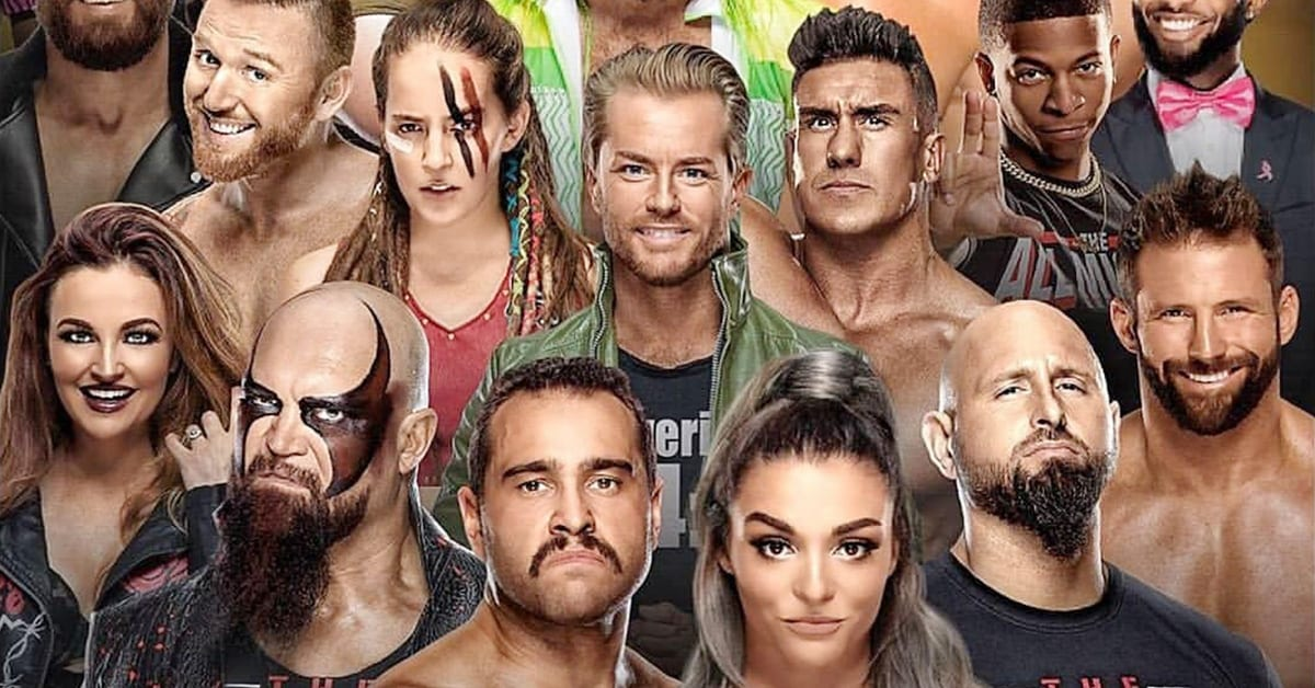 Released WWE Wrestlers Graphic April 2020