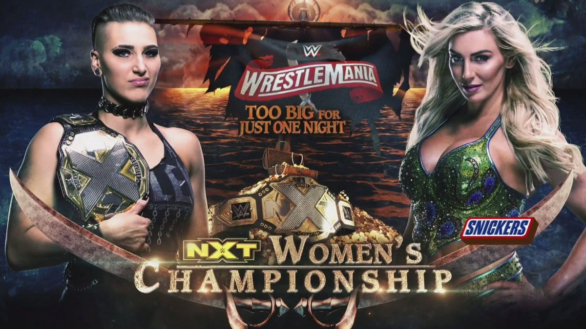 Rhea Ripley vs Charlotte Flair - WrestleMania 36 Too Big For Just One Night