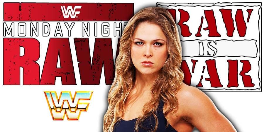 Ronda Rousey WWF WWE RAW