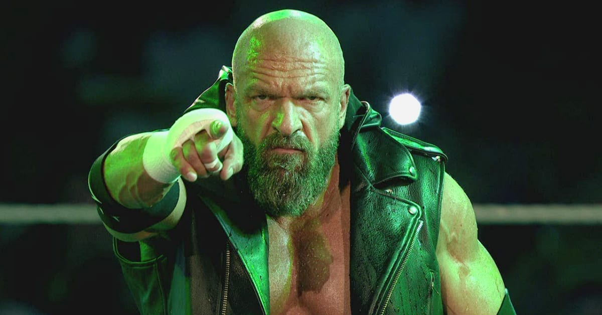 Triple H Pointing Towards Fans During WWE Entrance