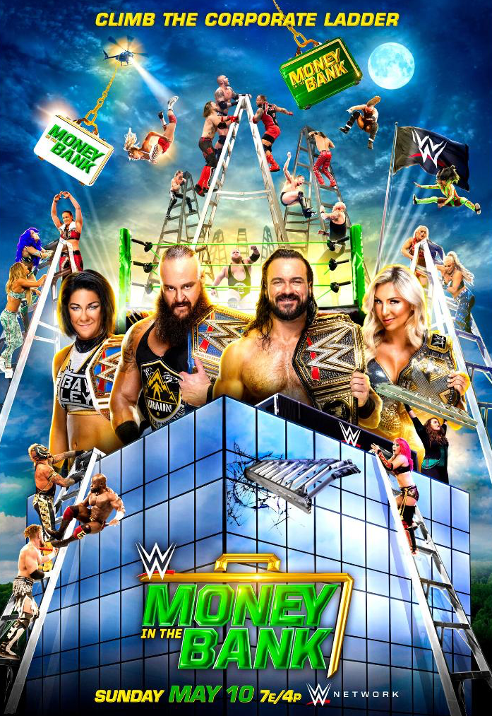 WWE Climb The Corporate Ladder Money In The Bank 2020 Poster