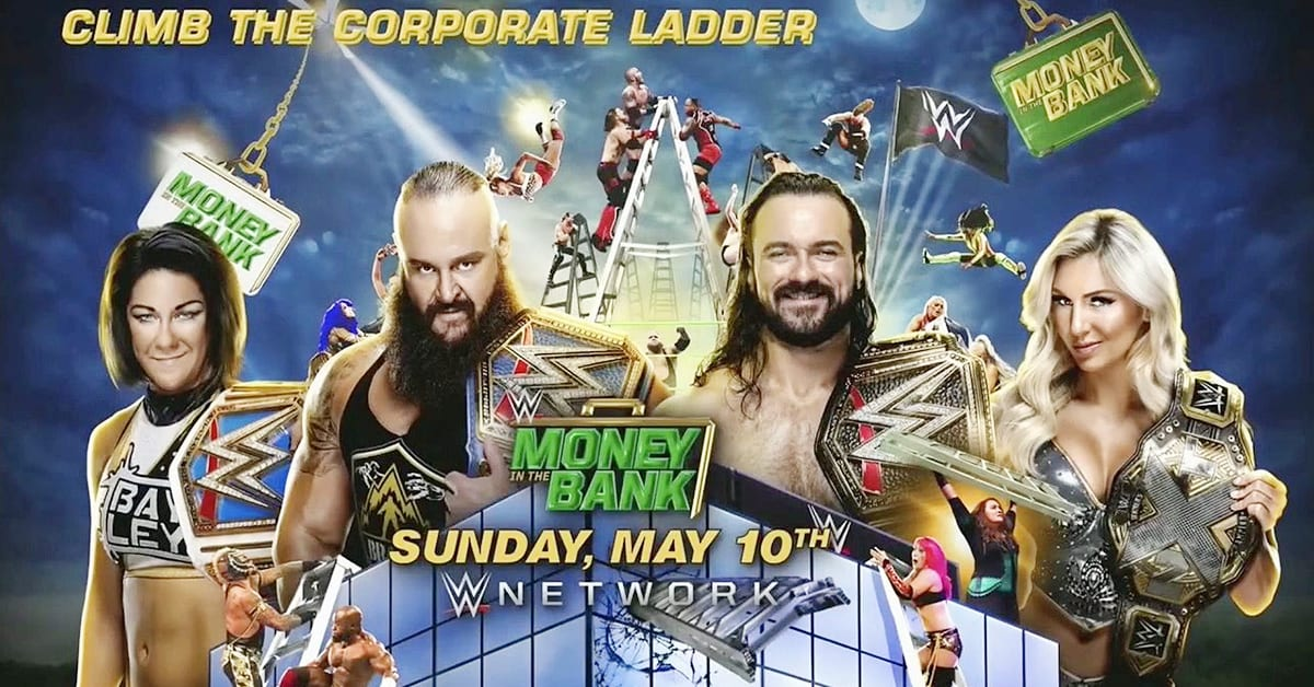 WWE Money In The Bank 2020 Climb The Corporate Ladder Banner