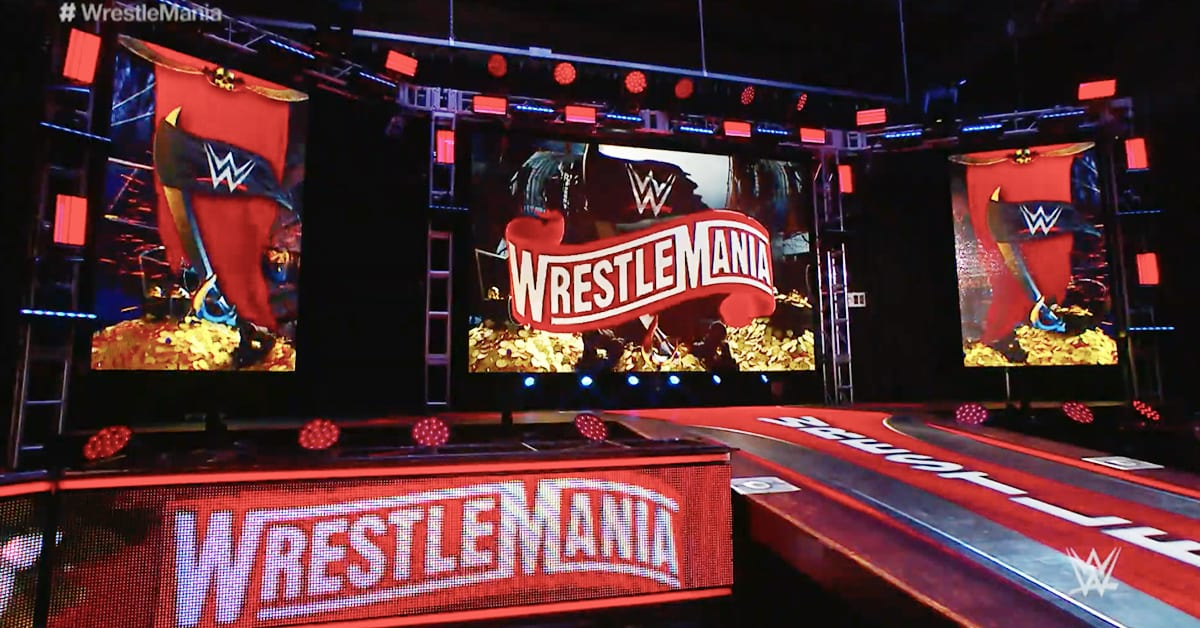WrestleMania 36 Set Stage WWE Performance Center
