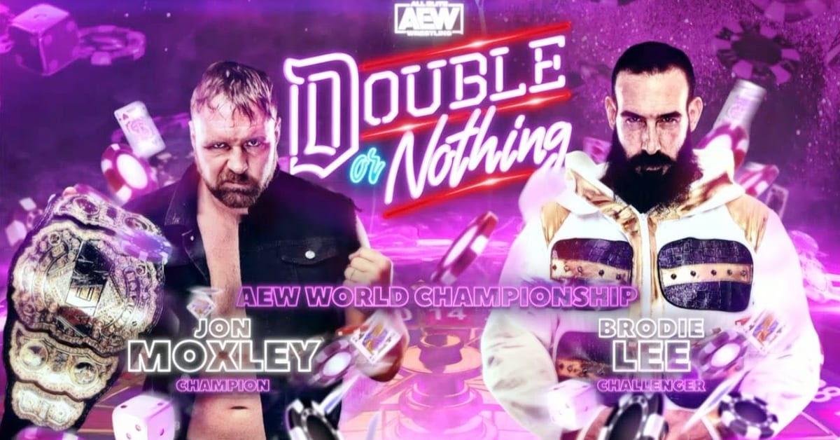 Jon Moxley vs Brodie Lee - AEW Double Or Nothing 2020 AEW World Championship Match Graphic