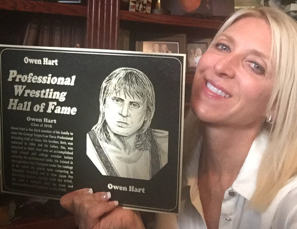 Martha Hart Owen Hart Professional Wrestling Hall Of Fame