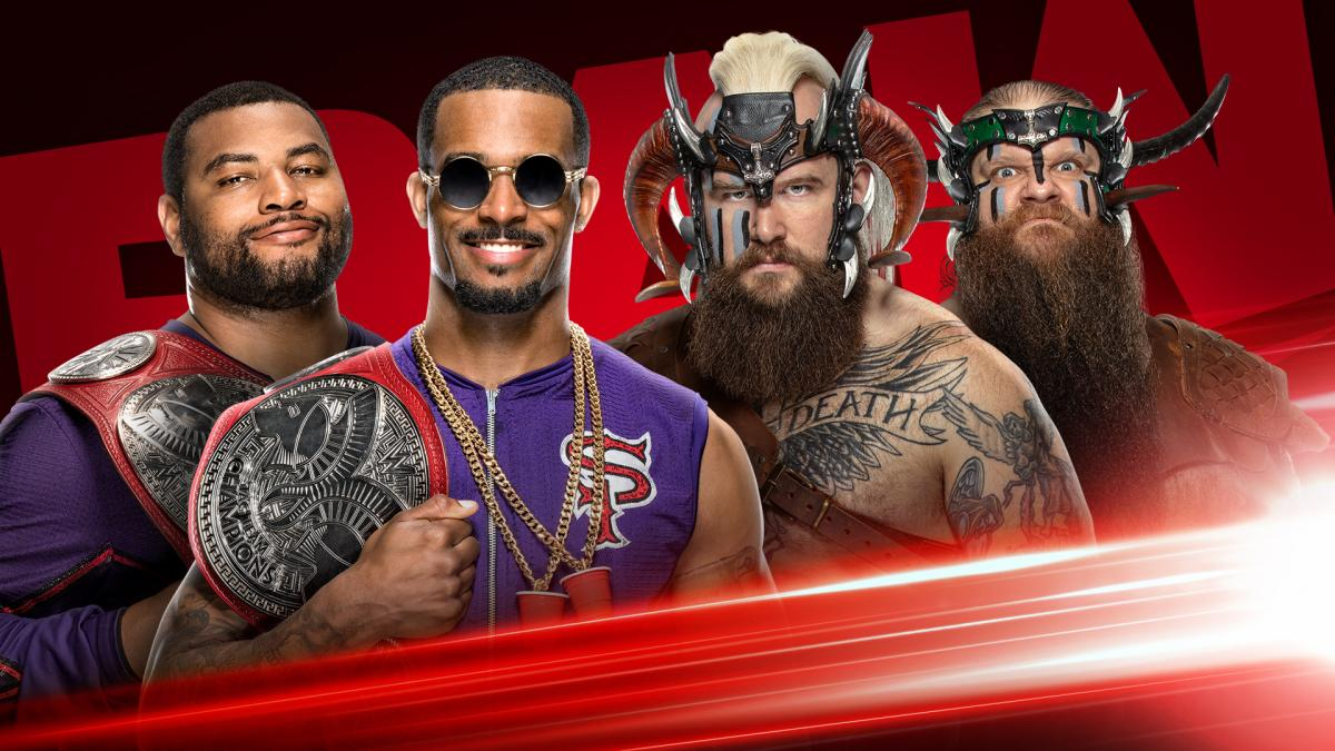 The Street Profits vs The Viking Raiders - WWE RAW