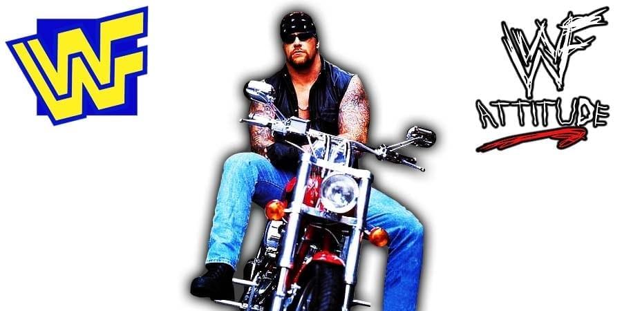 The Undertaker American Badass Biker Gimmick WWF Article Pic