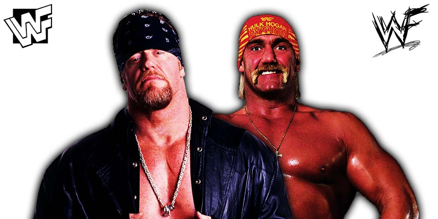The Undertaker Hulk Hogan WWF WWE