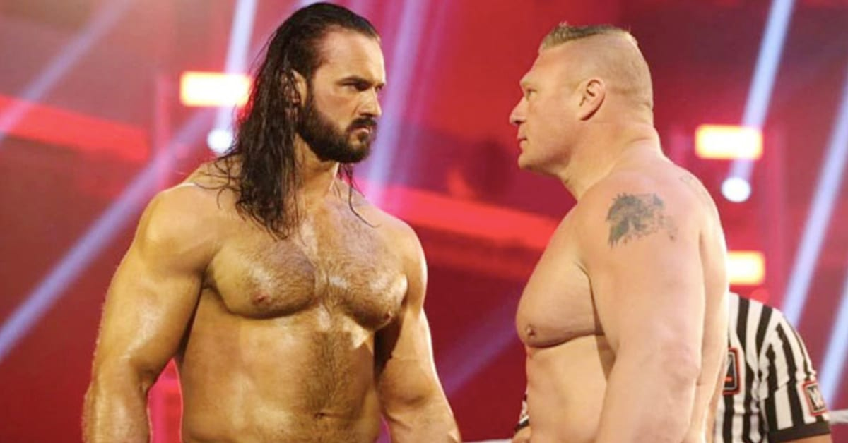 WrestleMania 36 Drew McIntyre Brock Lesnar Face To Face