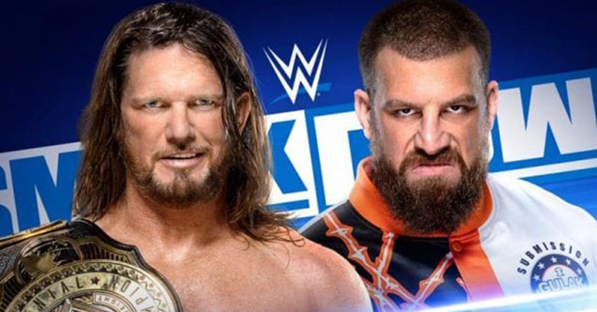 AJ Styles Drew Gulak SmackDown Match Graphic