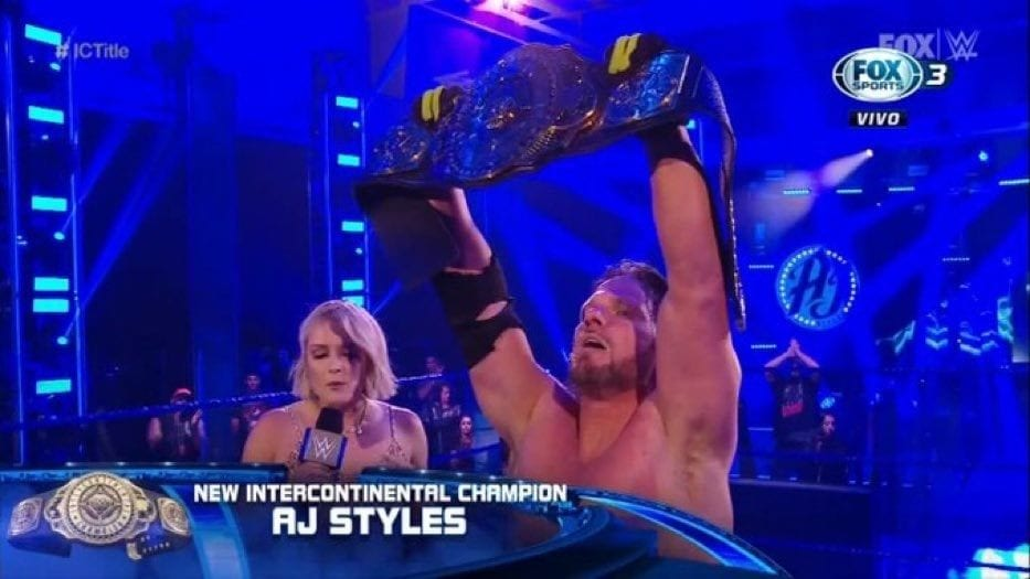 AJ Styles Wins The Intercontinental Championship