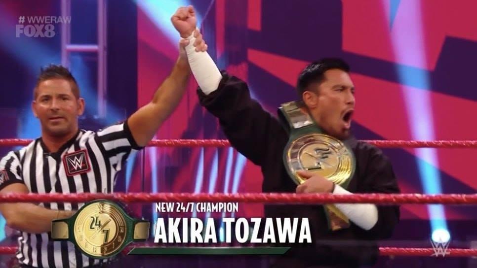 Akira Tozawa Wins WWE 24 7 Championship