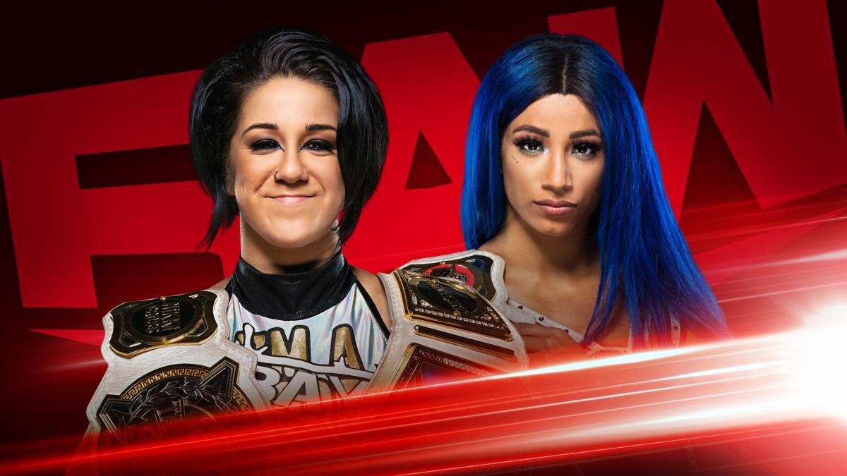 Bayley Sasha Banks WWE Women's Tag Team Champions RAW Graphic