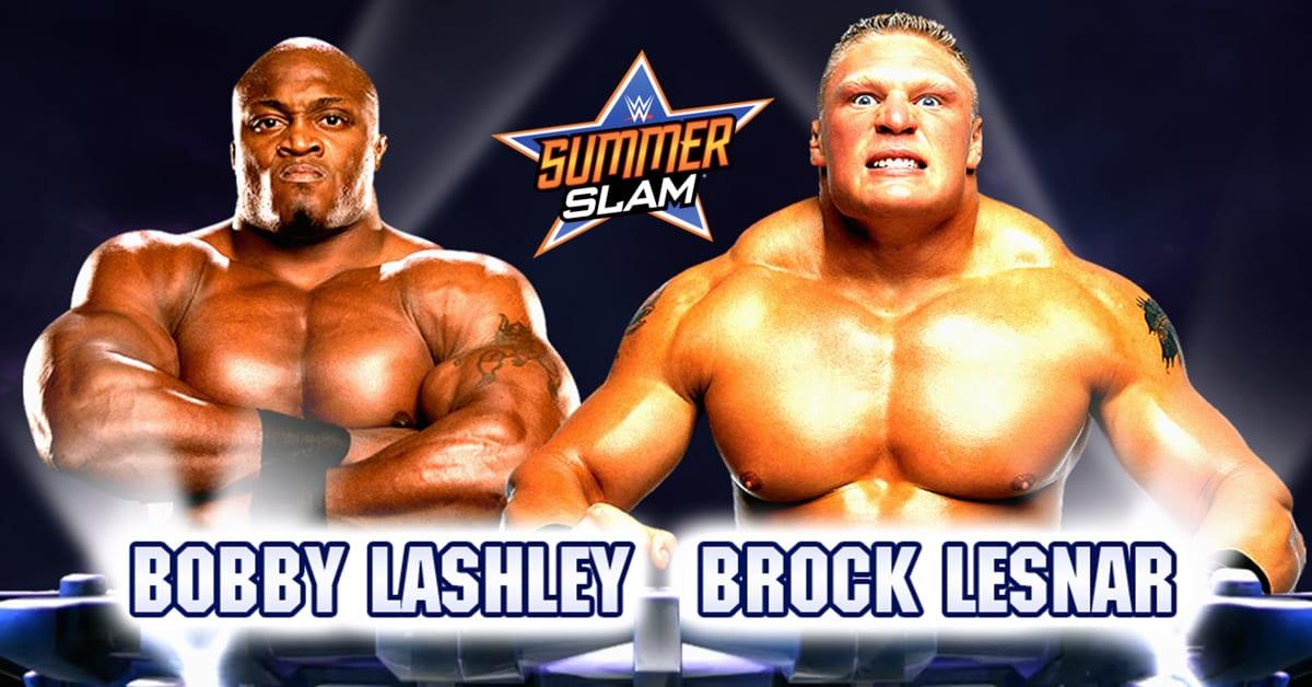 Bobby Lashley vs Brock Lesnar WWE SummerSlam 2020