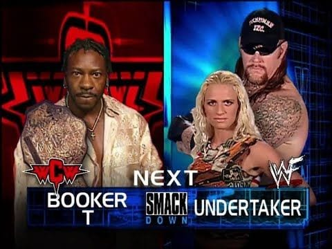 Booker T vs The Undertaker (with Sara) - WWF SmackDown