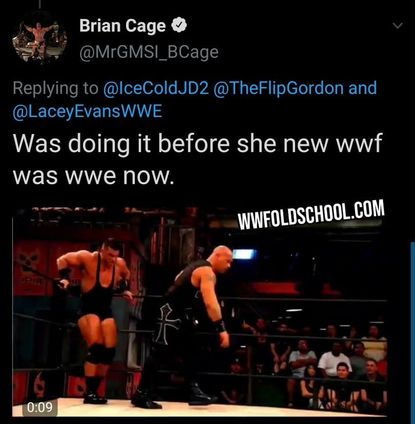 Brian Cage Says Lacey Evans Didn't Know WWE Was Previously Known As WWF
