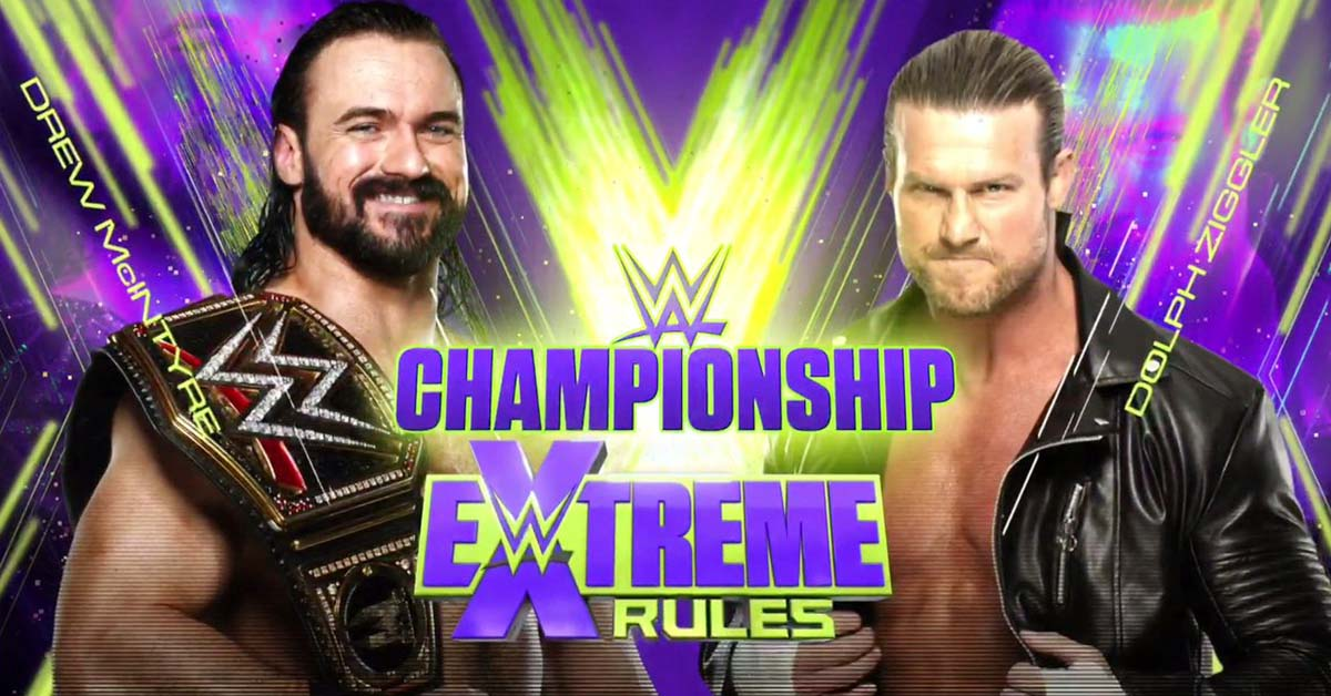 Drew McIntyre vs Dolph Ziggler - WWE Championship Match Graphic For Extreme Rules 2020