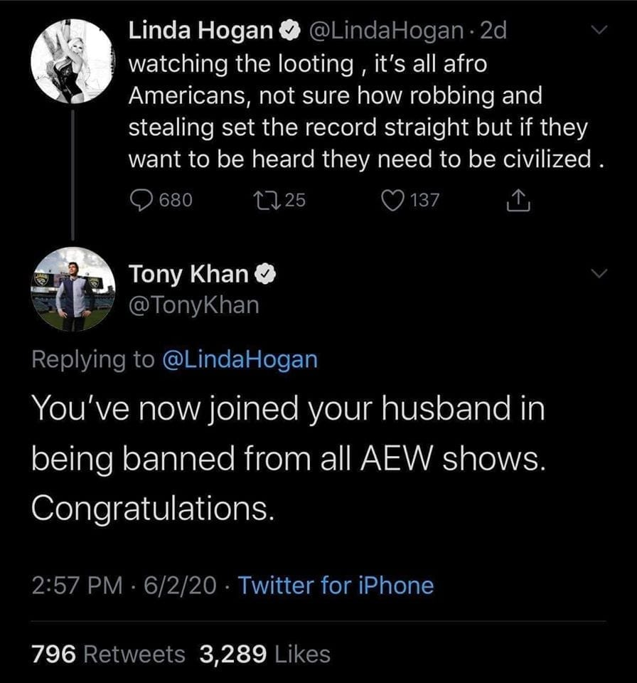 Hulk Hogan Linda Hogan Banned From AEW By Tony Khan