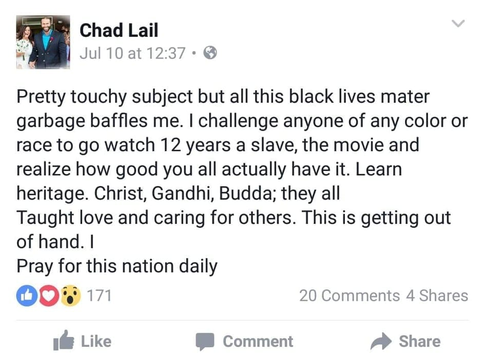 Jaxson Ryker Said Black Lives Matter Movement Is Garbage