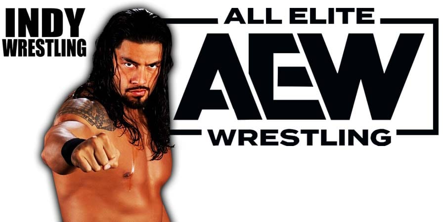 Roman Reigns AEW All Elite Wrestling