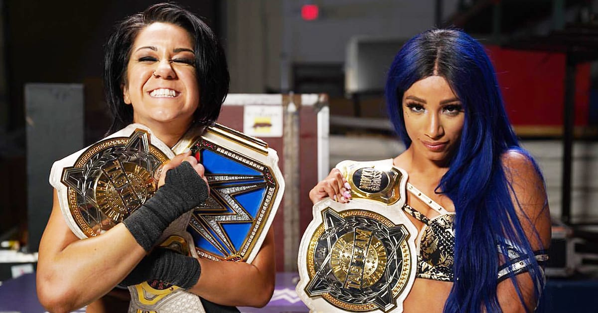 SmackDown Women's Champion Bayley Sasha Banks WWE Women's Tag Team Champions 2020