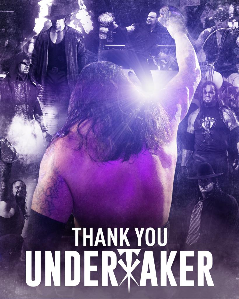 Thank You Undertaker WWE Graphic