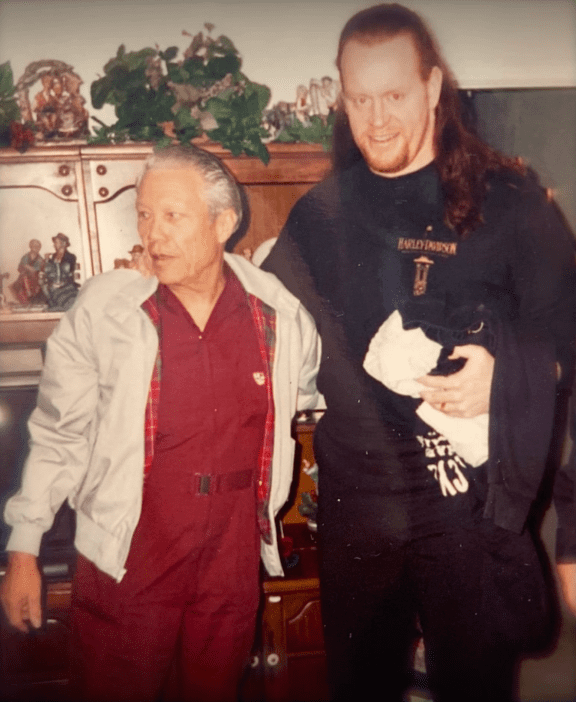 The Undertaker with his father