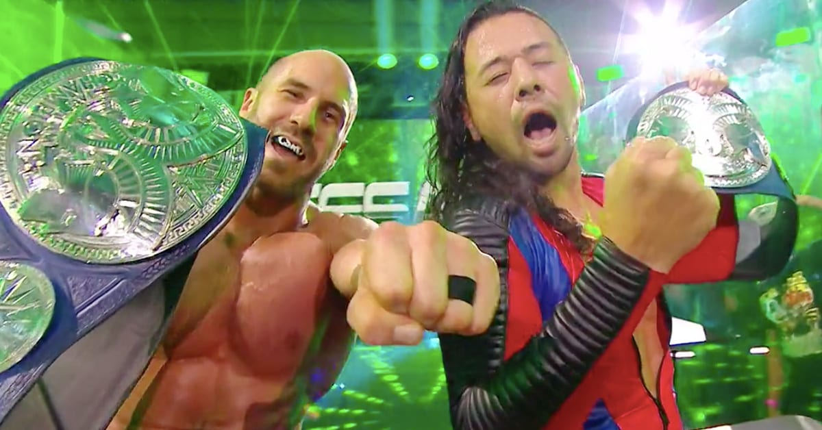 Cesaro Shinsuke Nakamura Win SmackDown Tag Team Championship At WWE Extreme Rules 2020
