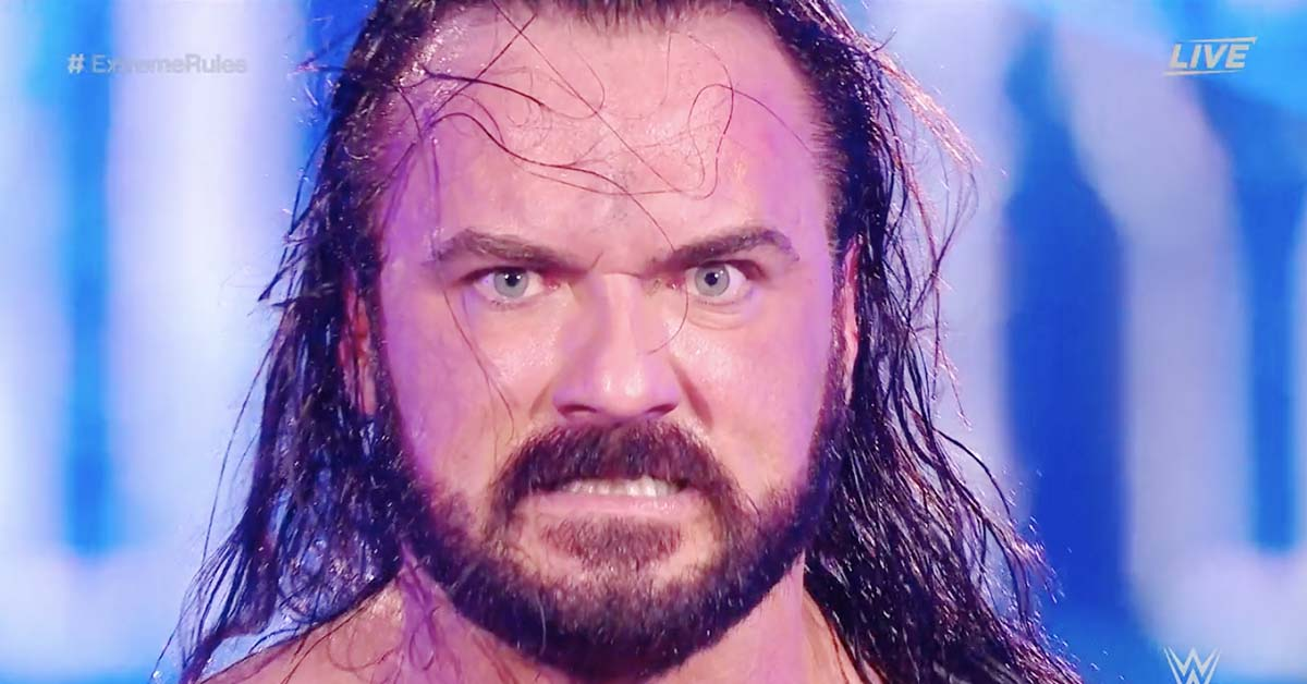 Drew McIntyre Angry Face WWE Extreme Rules 2020