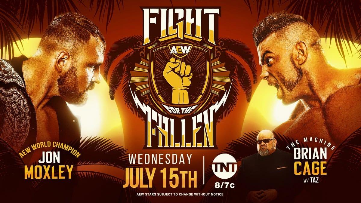 Jon Moxley vs Brian Cage - AEW Fight For The Fallen 2020 (AEW World Championship Match)