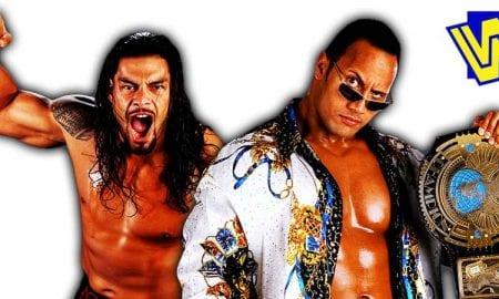 Roman Reigns The Rock WWF Champion