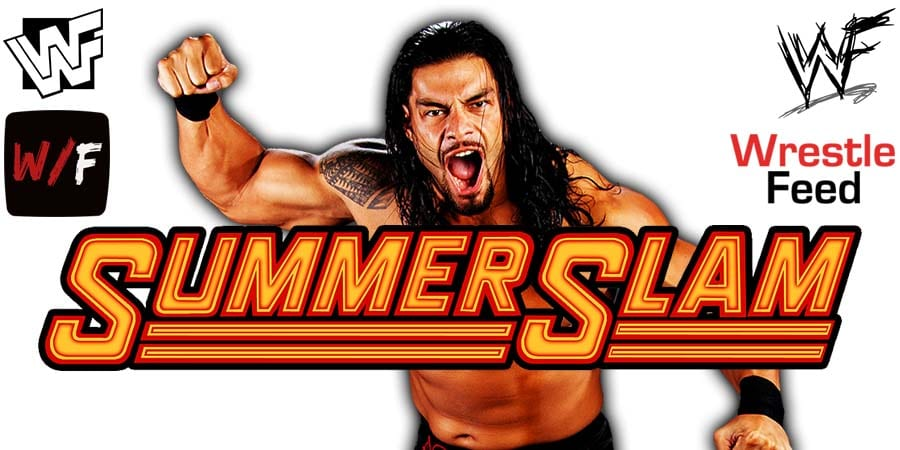 Roman Reigns WWE SummerSlam 2020 WrestleFeed App