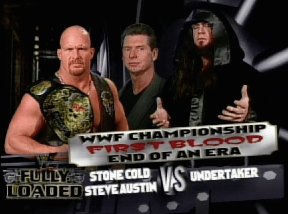 Stone Cold Steve Austin vs The Undertaker - WWF Fully Loaded 1999 (End Of An Era - First Blood Match For The WWF Championship)