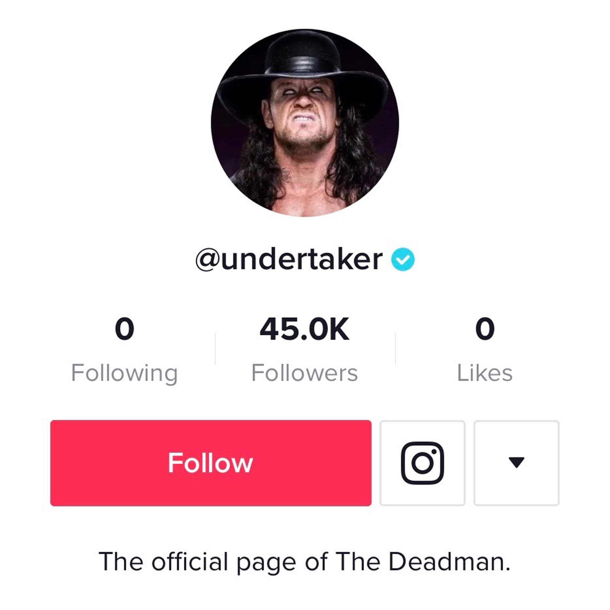 Undertaker Has Joined TikTok
