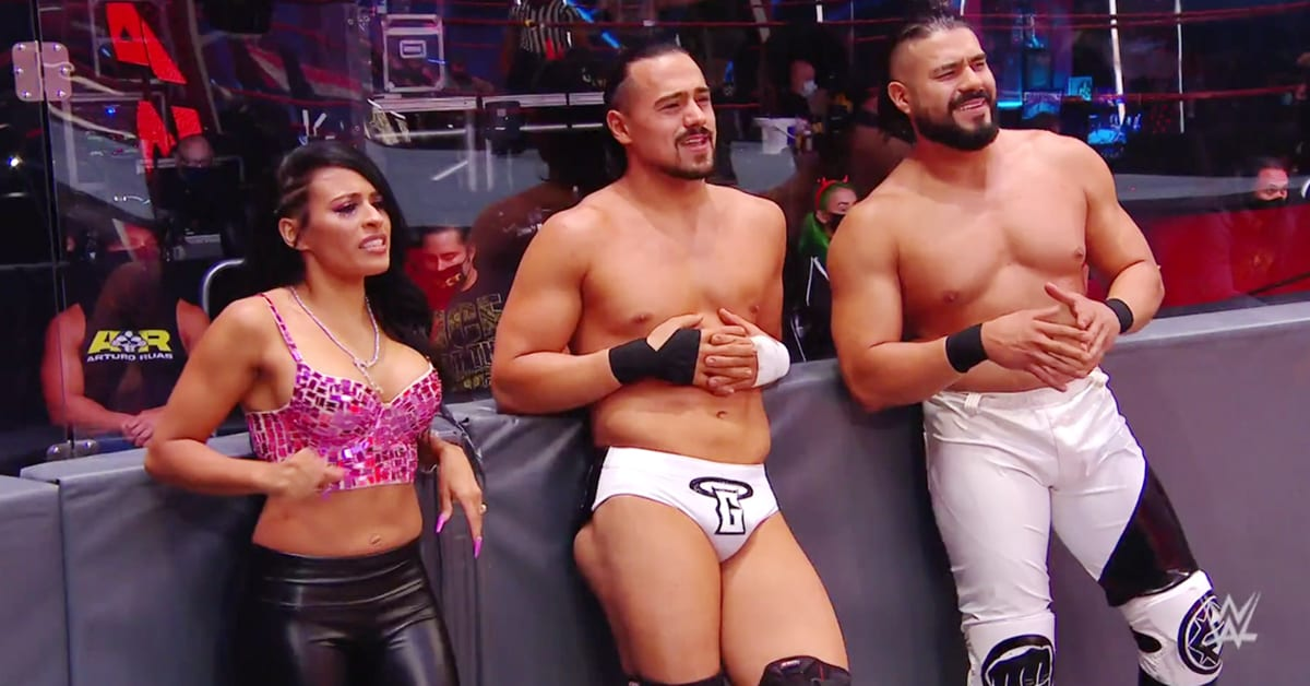 Zelina Vega Big Boobs Angel Garza Andrade WWE RAW July 2020