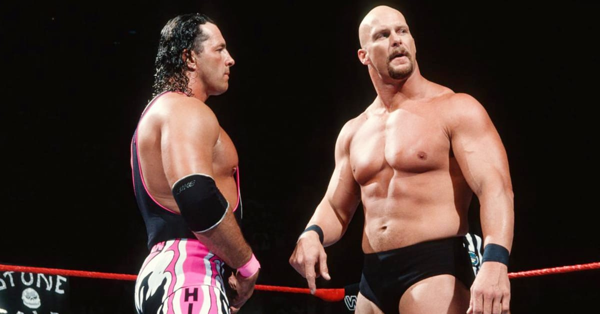 Steve Austin & Bret Hart In The Ring At QPW 2021 | WWF Old School
