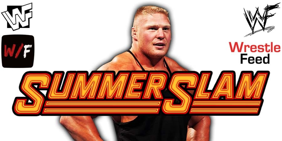 Brock Lesnar WWE SummerSlam 2020 WrestleFeed App