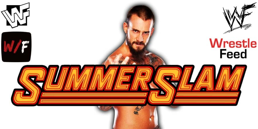 CM Punk WWE SummerSlam 2020 WrestleFeed App