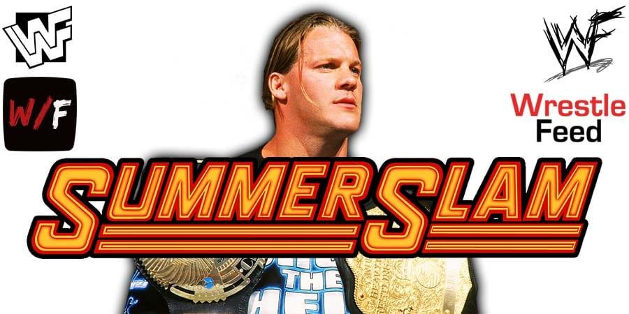 Chris Jericho WWE SummerSlam 2020 WrestleFeed App
