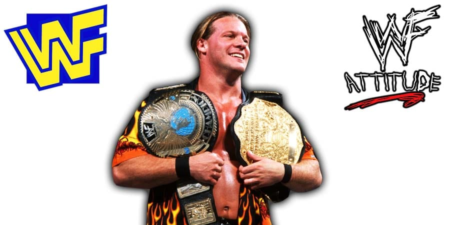 Chris Jericho WWF Undisputed Champion 2 Belts