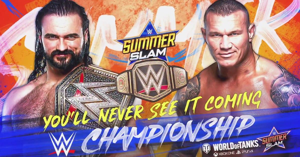 Drew McIntyre vs Randy Orton - WWE Championship SummerSlam 2020 Official Graphic