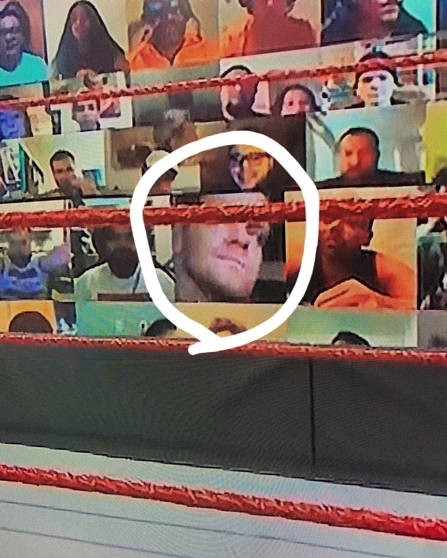 Fan Puts Chris Benoit On His Screen At The WWE ThunderDome On RAW After SummerSlam - 2