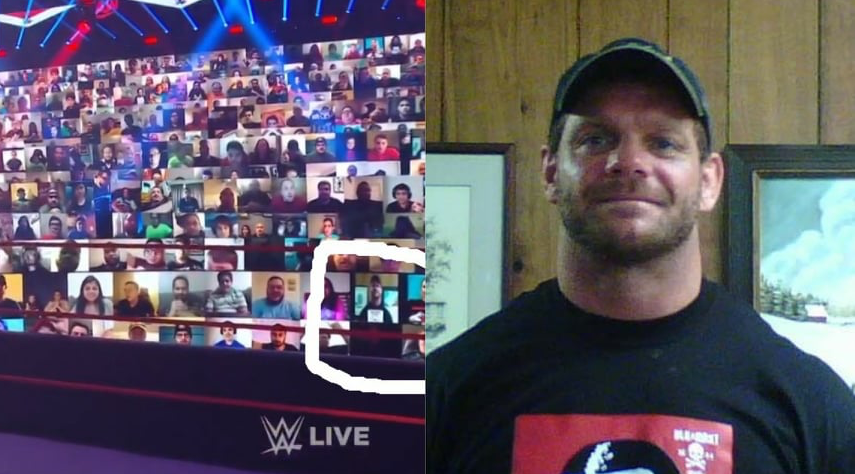 Fan Puts Chris Benoit On His Screen At The WWE ThunderDome On RAW After SummerSlam