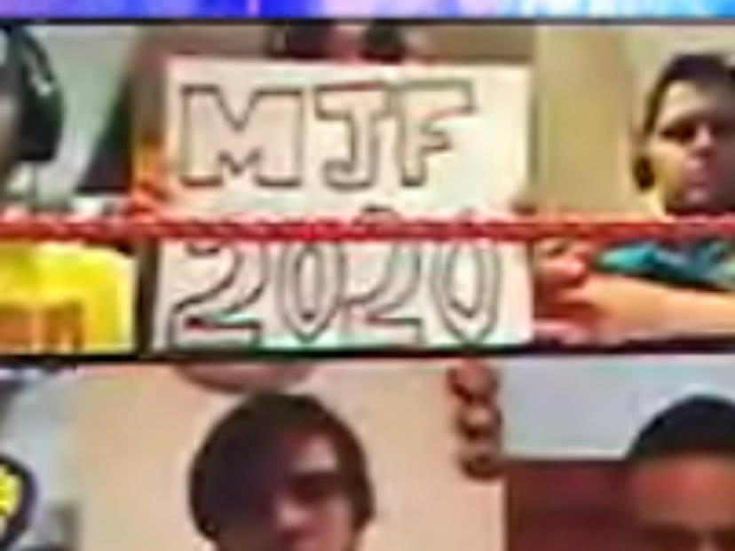 MJF 2020 Sign At WWE ThunderDome On RAW After SummerSlam 2020