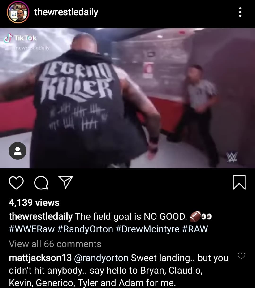 Matt Jackson Takes A Shot At Randy Orton For Missing Punt Kicks On RAW
