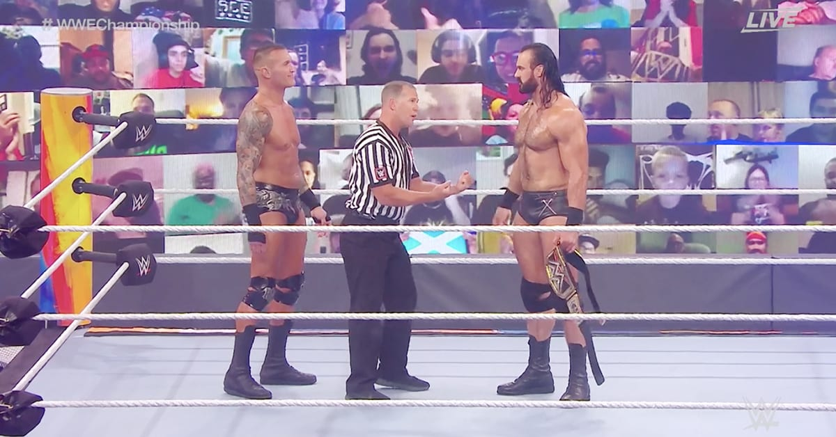 Randy Orton Drew McIntyre Face To Face At WWE SummerSlam 2020