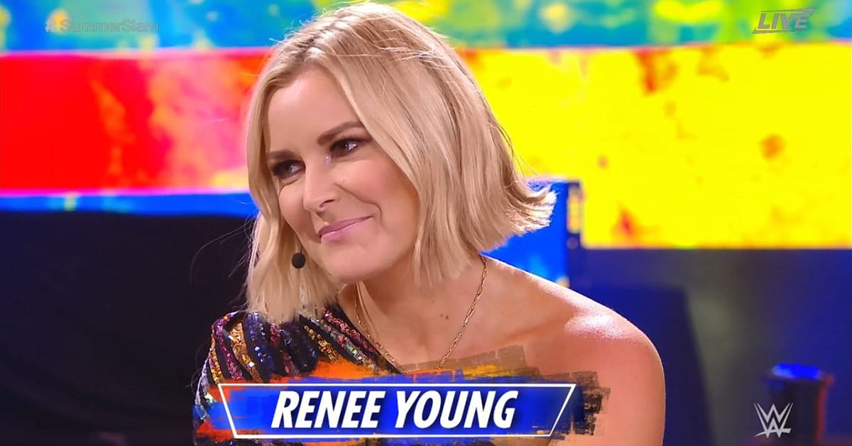 Renee Young WWE SummerSlam 2020 Kickoff Show Final Night In WWE