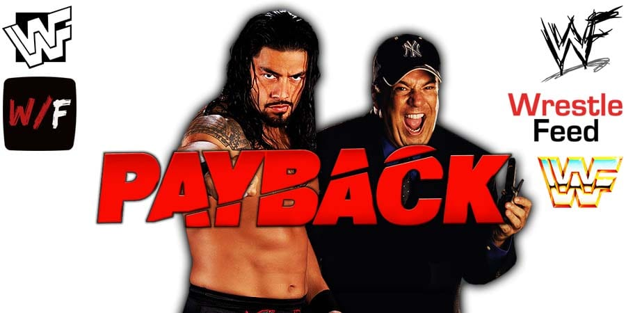 Roman Reigns Paul Heyman WWE Payback 2020