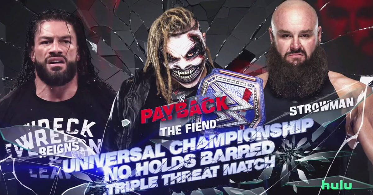 Roman Reigns vs The Fiend vs Braun Strowman - Official WWE Payback 2020 Match Graphic