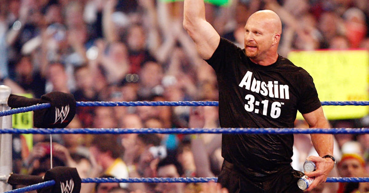 Stone Cold Steve Austin In A WWE Ring At WrestleMania 25 Austin 3 16 T-Shirt